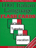 1,001+ Italian Language Flash Cards: Fastest Way to Get Started in Italian