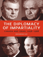 The Diplomacy of Impartiality: Canada and Israel, 1958-1968
