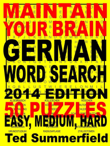 Maintain Your Brain German Word Search, 2014 Edition
