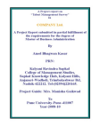 Project Report on Talent Management Survey