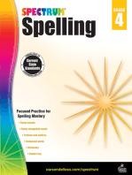 Spectrum Spelling, Grade 4