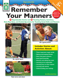 Remember Your Manners, Ages 5 - 11