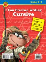 I Can Practice Writing Cursive, Grades 2 - 4