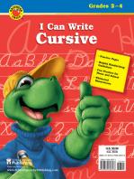 I Can Write Cursive, Grades 2 - 4