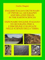 Dizionario italiano-inglese di geografia fisica e discipline collegate nelle scienze della terra