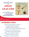 Presentation on SWOT Analysis