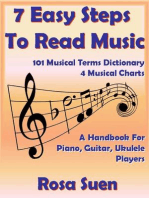 7 Easy Steps To Read Music - A Handbook for Piano, Guitar, Ukulele Players