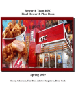 Research Analysis on KFC