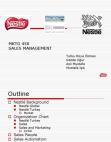 Project on Sales Management : Nestle