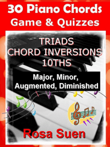 30 Piano Chords - Games & Quizzes - Triads, Chord Inversions, 10ths - Major, Minor, Augmented, Diminished: Learn Piano With Rosa