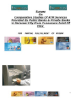 Comparative Studies Of ATM Services