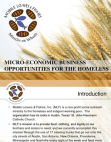 Micro-economic Business Opportunities For The Homeless