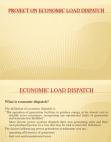 Project on Economic Load Dispatch