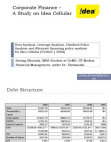 Study on Corporate Financea of Idea Cellular