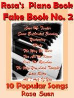 Rosa's Piano Book - Fake Book No. 2 - 10 Popular Songs