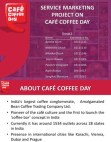 Service Marketing Project On Café Coffee Day