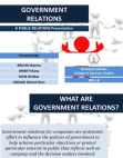 PR Presentation on Government Relations