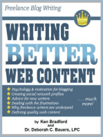 Freelance Blog Writing: Writing Better Web Content