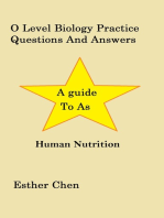 O Level Biology Practice Questions And Answers Human Nutrition