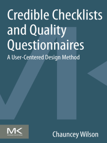 Credible Checklists and Quality Questionnaires: A User-Centered Design Method