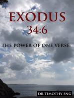 The Power of One Verse Exodus 34:6