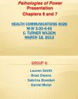 Pathologies of Power - Health Communications