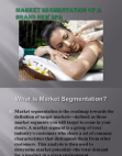 Market Segmentation of A Brand New Spa