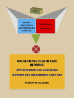 One Sentence Health Care Reforms