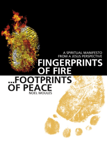 Fingerprints of Fire, Footprints of Peace: A Spiritual Manifesto from a Jesus Perspective