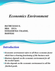 PPT for Economics Environment