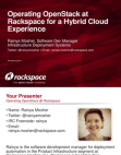 Case Study on Rackspace for A Hybrid Cloud Experience
