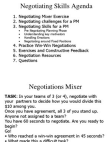 Negotiating Skills Agenda
