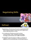 Negotiating Skills Behaviour