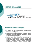 Ratio in Finance - Interpretation of Ratio