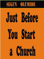 Just Before You Start a Church
