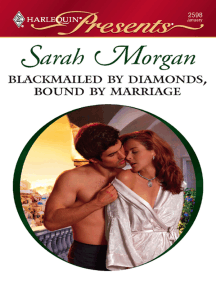 Blackmailed By Diamonds, Bound By Marriage by Sarah Morgan - Read Online