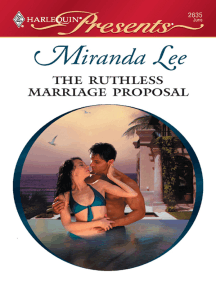 The Ruthless Marriage Proposal by Miranda Lee - Read Online