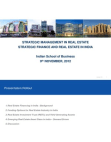 Strategic Finance and Real Estate in India