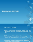 Characteristic of Financial Services