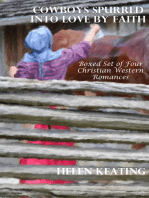 Cowboys Spurred Into Love By Faith (Boxed Set of Four Christian Western Romances)