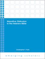 Narrative Obtrusion in the Hebrew Bible