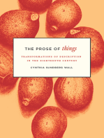 The Prose of Things