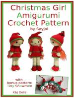 Christmas Girl Amigurumi Crochet Pattern