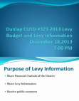 PPT on Purpose of Levy Information