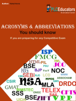 Acronyms and Abbreviations That You Should Know for Competitive Exams