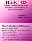 Study on ULIPS v/s Mutual fund - HSBC