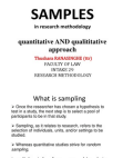 A Study on Methods of Qualitative and Quantitative Research
