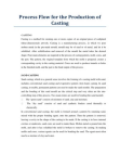 A Study on Process Flow for the Production of Casting