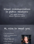 Project on Visual Communication in Public Relations