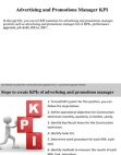 PPT on Advertising and Promotions Manager KPI